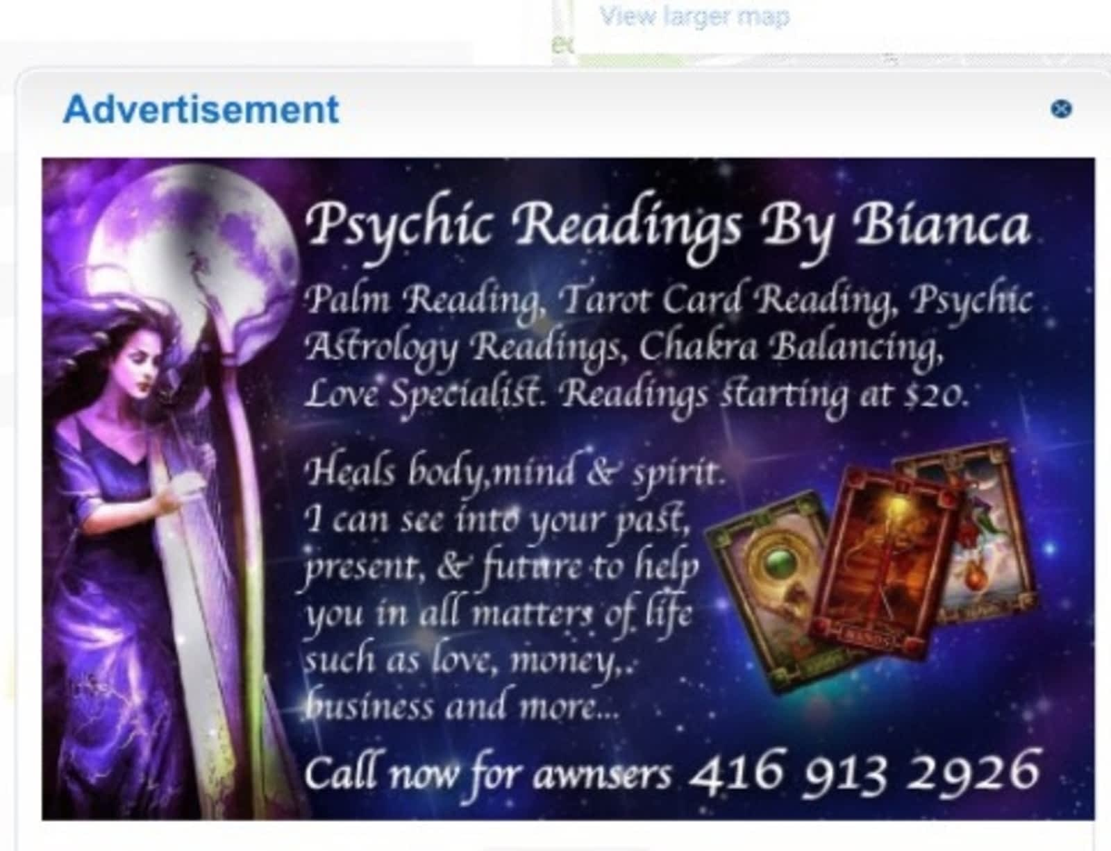 Bianca\'s Psychic Readings - Opening Hours - 2925 Dufferin St, North ...