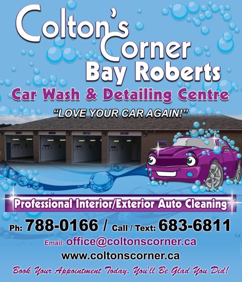 colton 39 s corner car wash detailing center bay roberts nl 125 135 conception bay hwy. Black Bedroom Furniture Sets. Home Design Ideas