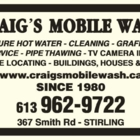 Craig's Mobile Wash - Exterior House Cleaning - 613-962-9722