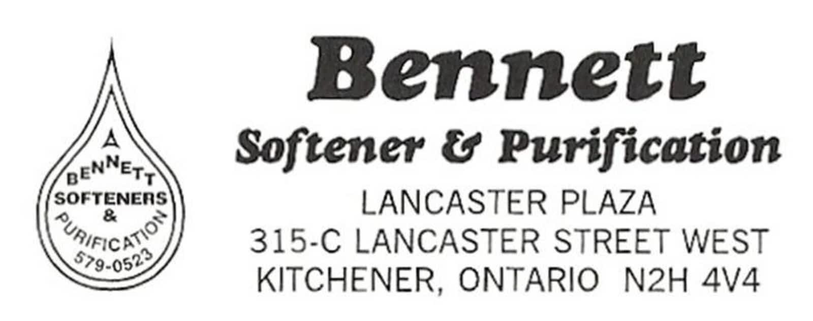 Bennett Softener & Purification - Opening Hours - 309B Victoria St N ...