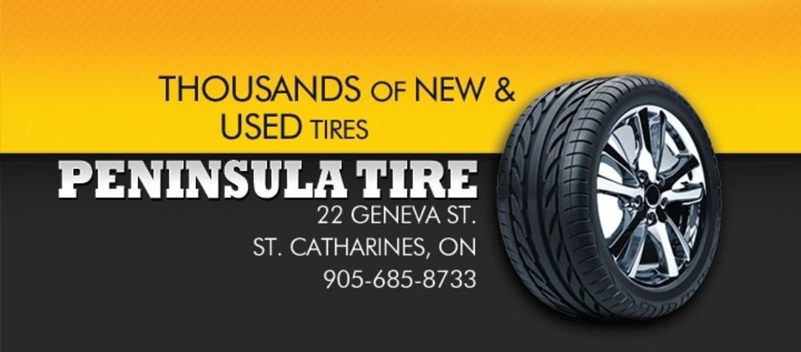 Tire Quotes Peninsula Tire  Opening Hours  322 Geneva St St Catharines On