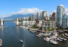 Great patios on the south side of Vancouver's False Creek