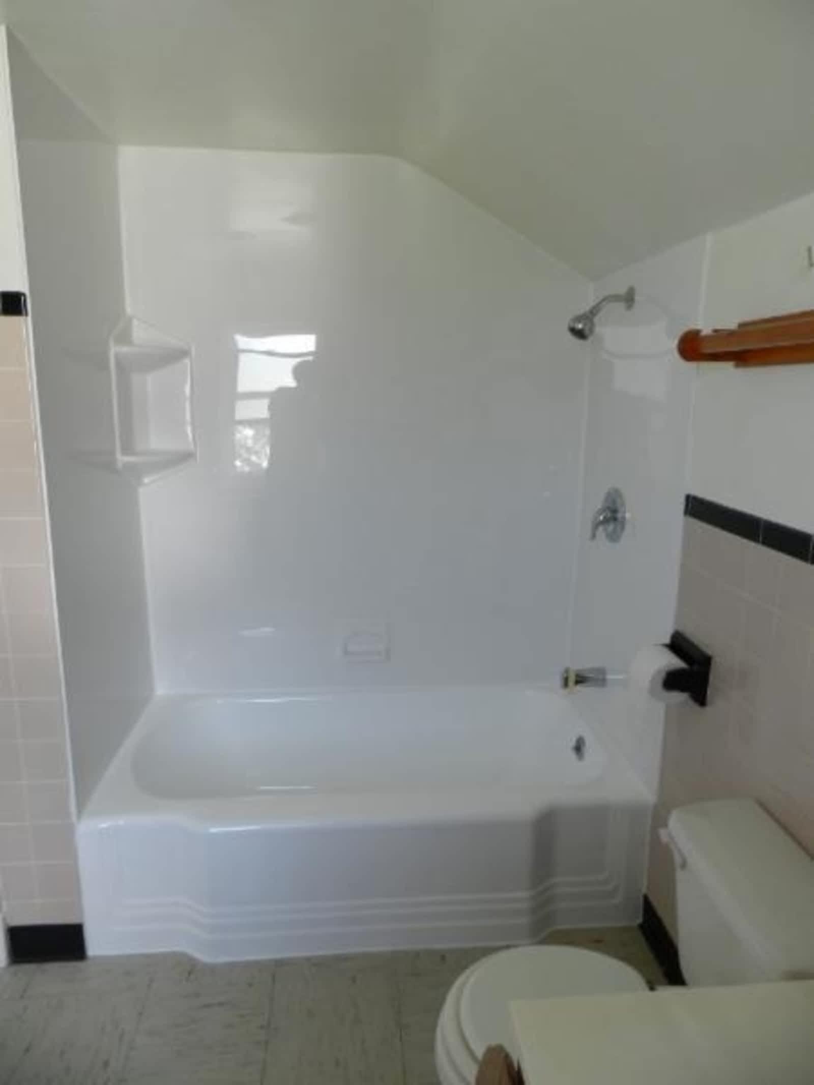 bathtub step off cutting in walk safety