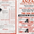 Anzac Pizza & Fast Food - Sushi et restaurants japonais - 780-334-2500