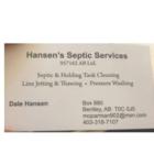 Hansen's Septic Service's - Nettoyage de fosses septiques