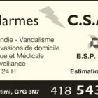 Alarme C S A - Systèmes d'alarme - 418-543-8330