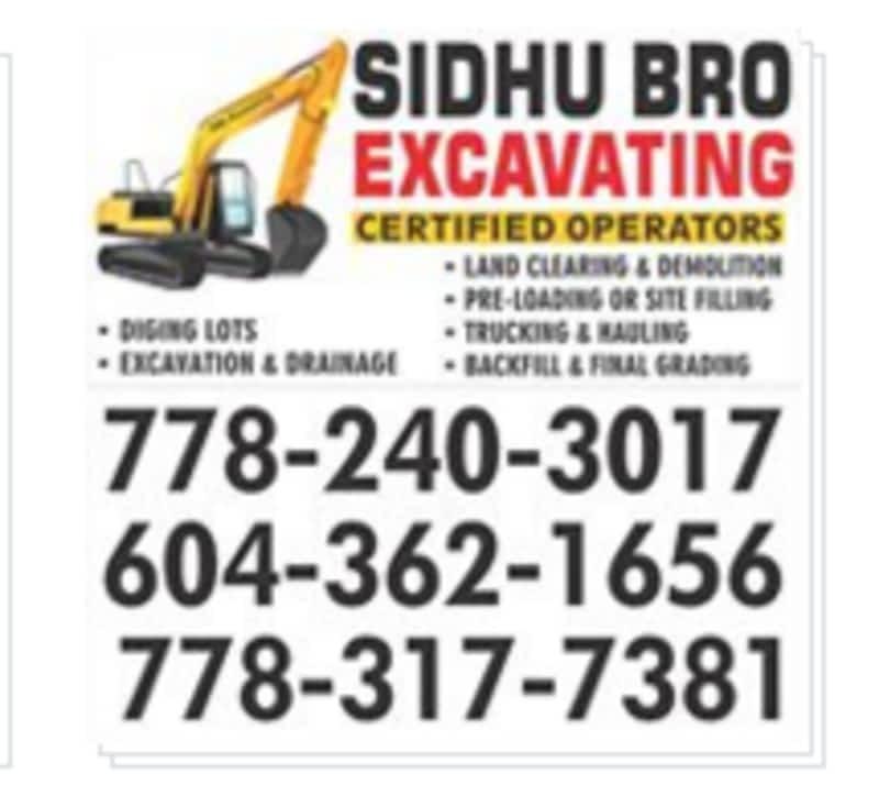 photo Sidhu Excavating