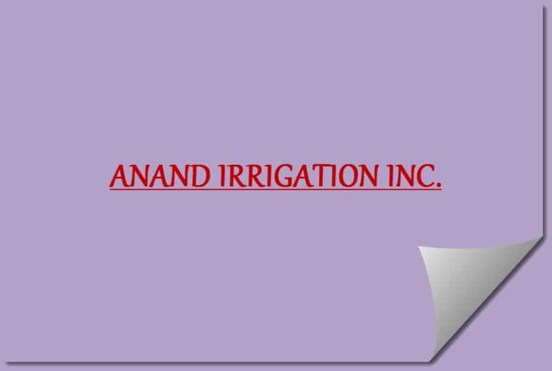photo Anand Irrigation & Mini Excavating Inc