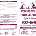 Foothills Pizza & Pasta - Pizza et pizzérias - 403-933-4848