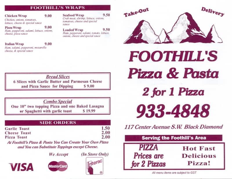 photo Foothills Pizza & Pasta