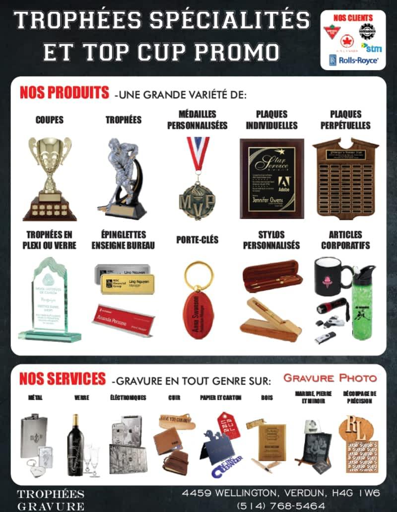 photo Top Cup Promo et Trophées Spécialités