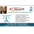 Maxwell Small Business Consulting Services - Bookkeeping
