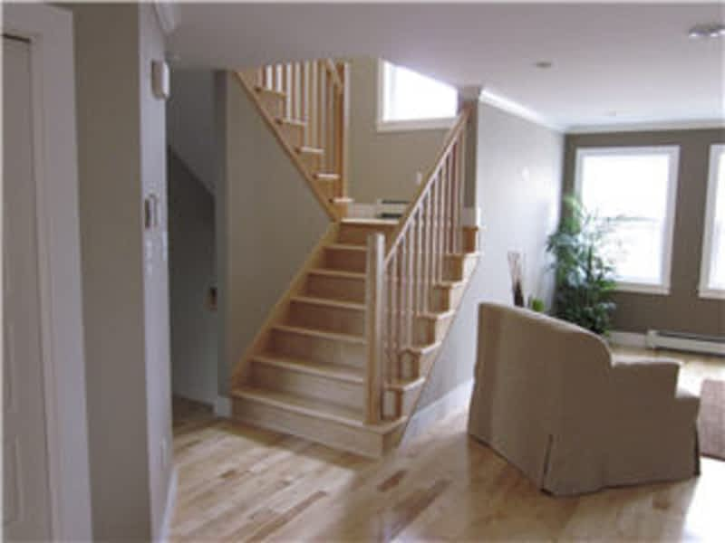 Duart hardwood stairs floors dartmouth ns 139b main for Hardwood floors on stairs
