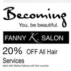 Fanny K. Salon - Hairdressers & Beauty Salons - 289-597-7803