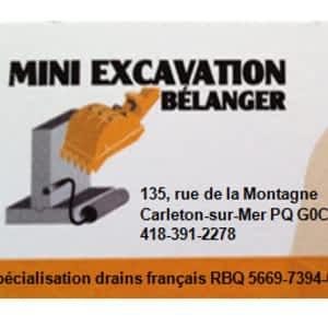 Mini Excavation Bélanger 135 Rue De La Montagne Carleton Qc