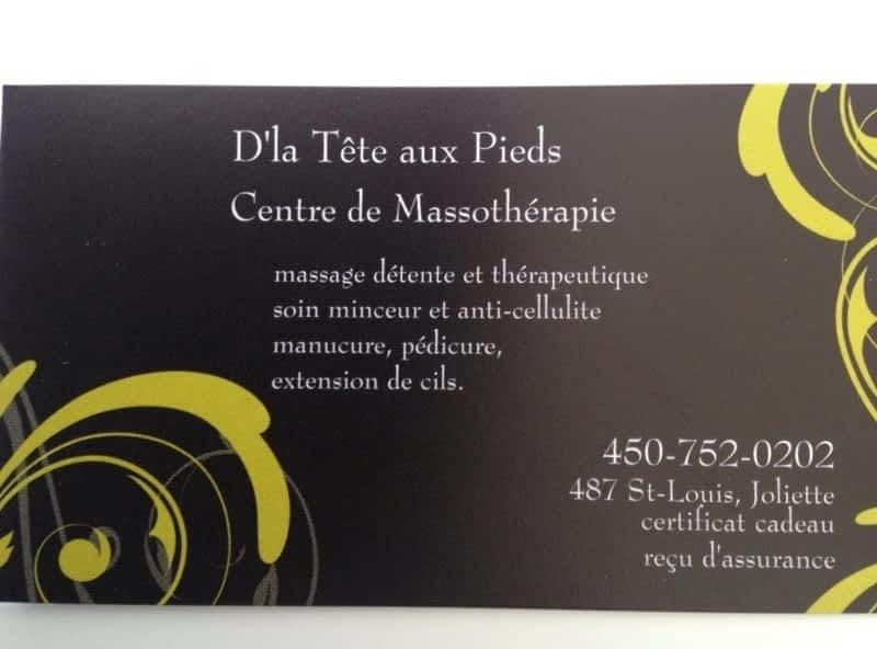 photo Centre de Massothérapie d'la Tête aux Pieds