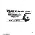 Garage JC Simard - Tondeuses à gazon