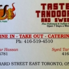 Taste Of Tandooree - Indian Restaurants - 416-519-4510
