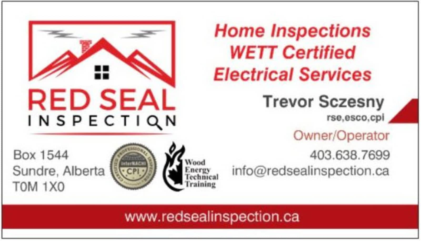 Red seal inspection opening hours 625 5 avenue southwest sundre ab sciox Images