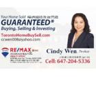 Cindy Wen Real Estate - Real Estate Agents & Brokers - 647-204-5336