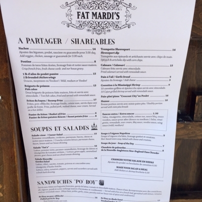Fat Mardis - Cajun Restaurants