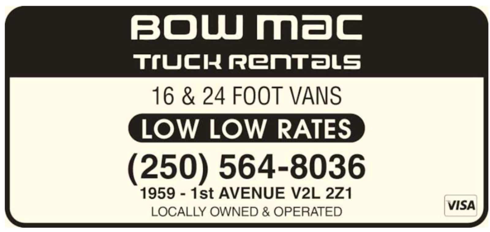 Bowmac truck rentals