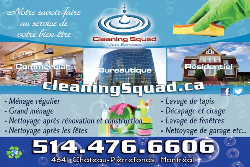 photo Nettoyage Cleaning Squad