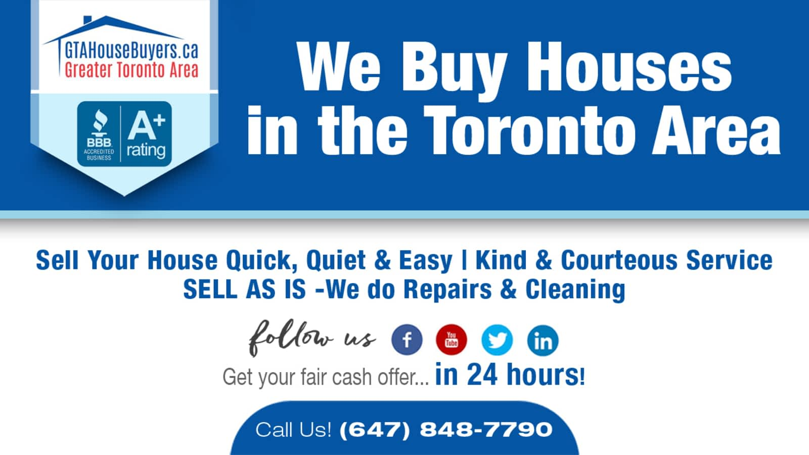 GTA House Buyers - Opening Hours - 809-170 The Donway W, North York, ON