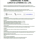 Sandwiches'N More Lunch & Catering Co. Ltd. - Caterers