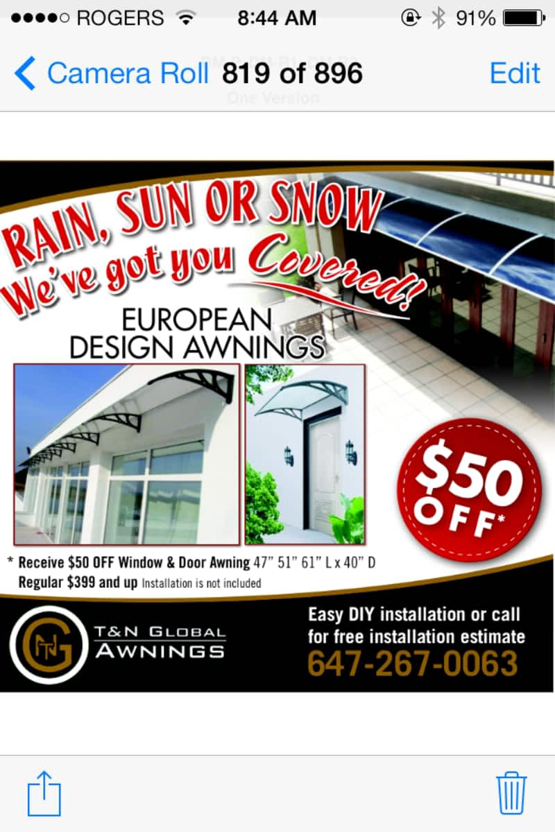 T Amp N Global Awnings Canpages