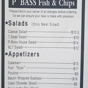 P Bass Fish Chips