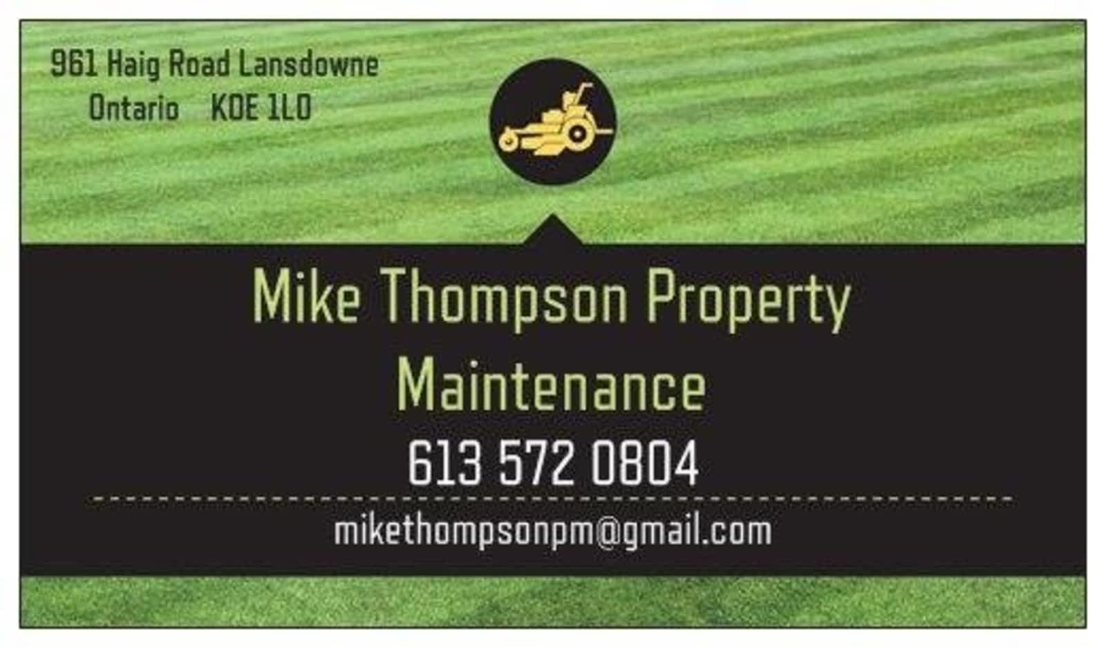 Mike Thompson Property Maintenance - Opening Hours - 961 Haig Rd ...