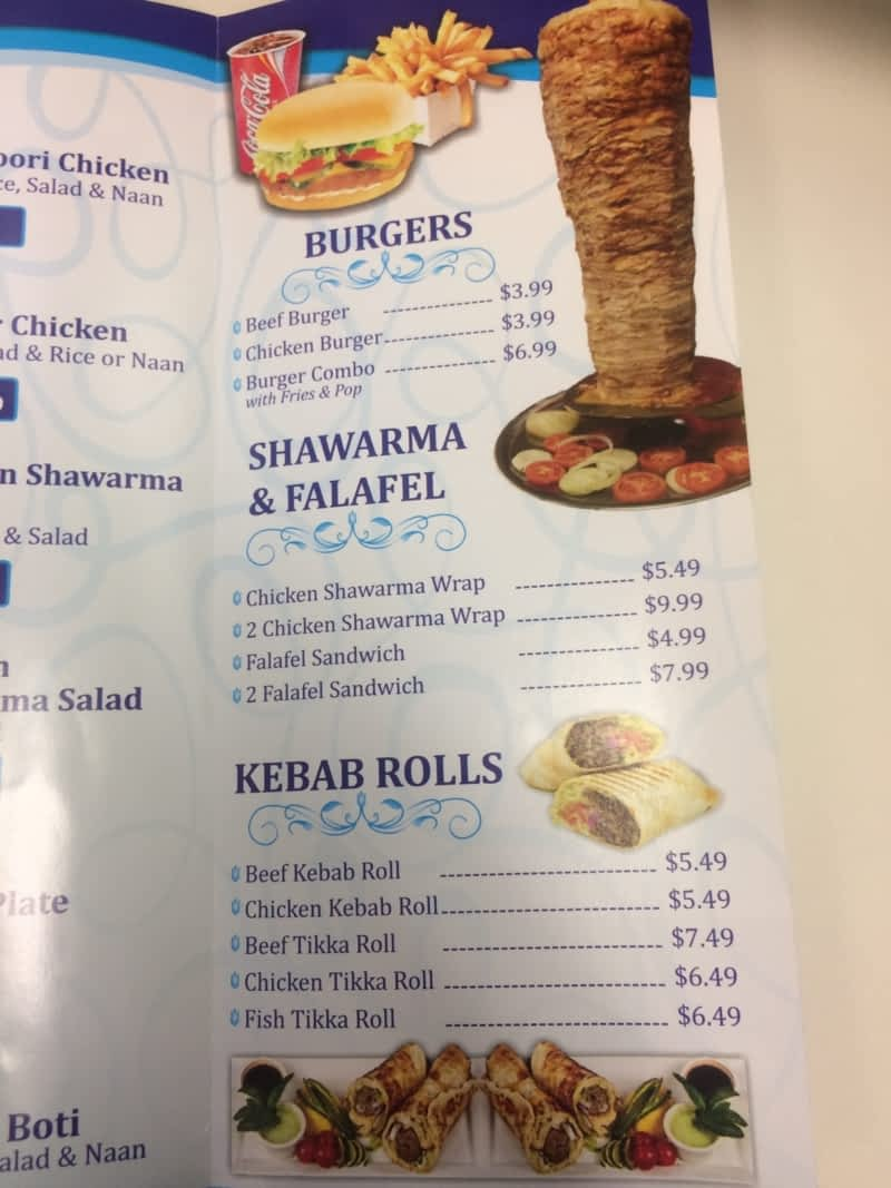 Afghan kebab shawarma pickering on 734 kingston rd for Afghan cuisine regina