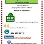 Entreprise Sadbouh - Nettoyage résidentiel, commercial et industriel - 514-995-7672