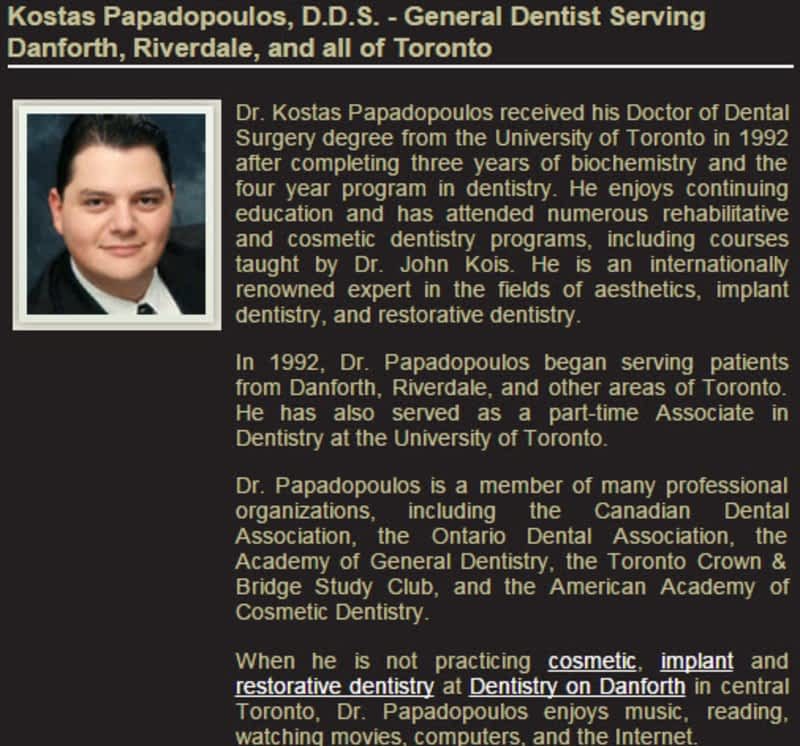 photo Dentistry on Danforth