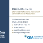 Paul Don Professional Corporation - Accountants - 905-430-1817