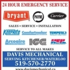 Davis Mechanical - Air Conditioning Contractors - 519-272-2190