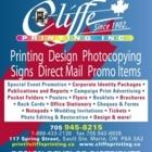 Cliffe Printing Inc - Copying & Duplicating Service