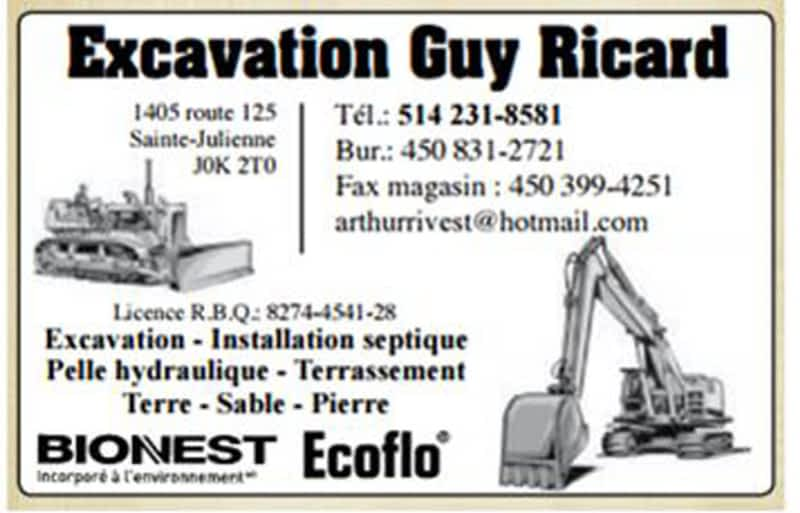 photo Excavation Guy Ricard