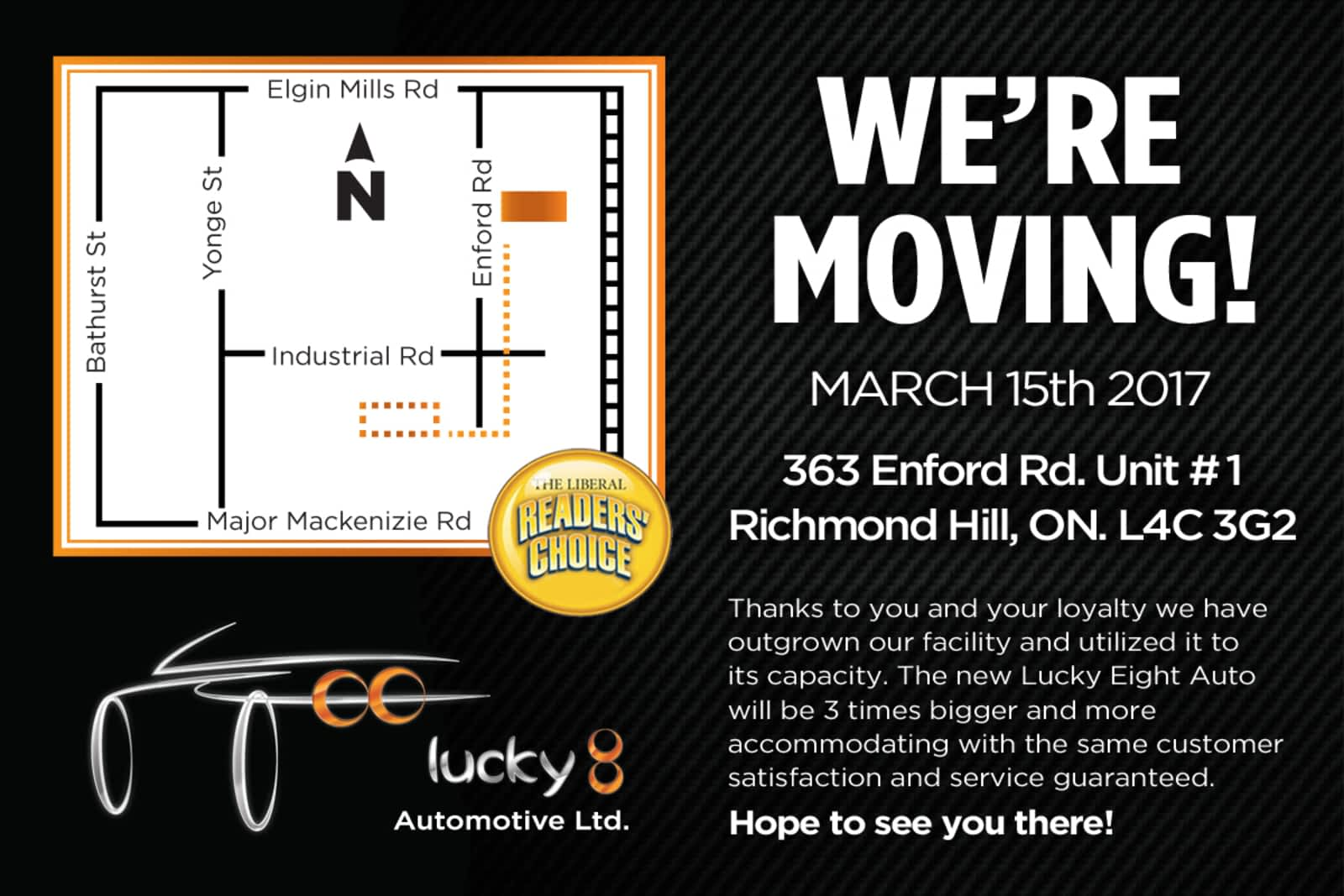 Lucky 8 Auto >> Lucky Eight Auto Repair Ltd Opening Hours 365 Enford