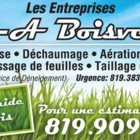 Les Entreprises M-A Boisvert - Service d'entretien d'arbres - 819-383-1511