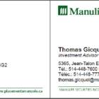 Thomas Gicquel - Investment Dealers - 438-395-1717