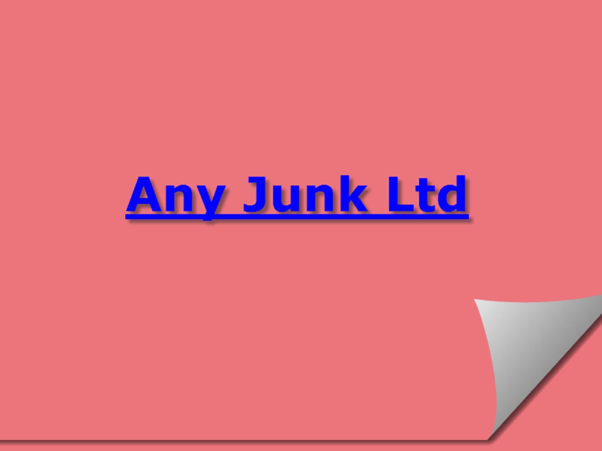 photo Any Junk Ltd