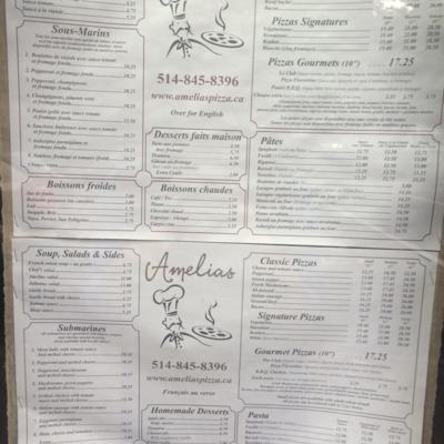 Amelias Restaurant - Italian Restaurants - 514-845-8396
