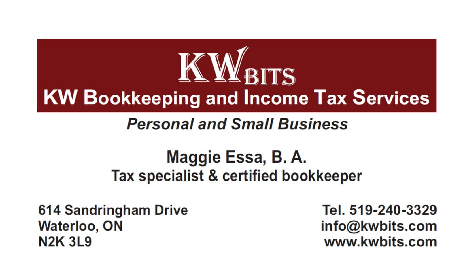 KW Bookkeeping & Income Tax Services (KW BITS) - Opening Hours - 614 ...
