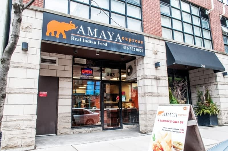 Amaya express king st e toronto on 263 king st e for Aroma fine indian cuisine king street west toronto on