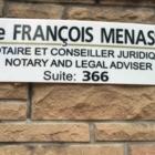Maitre François Menassa - Notaries - 514-903-1740