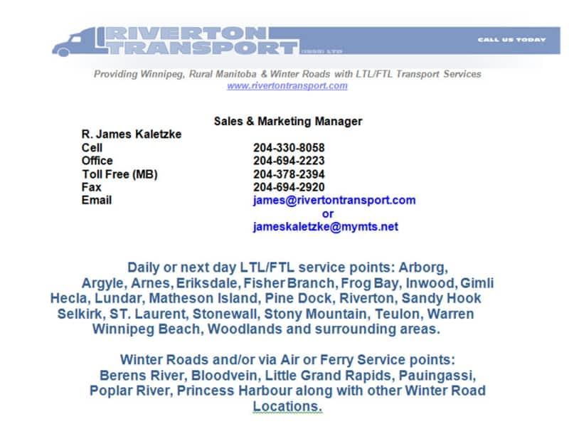 photo Riverton Transport (1998 Ltd)