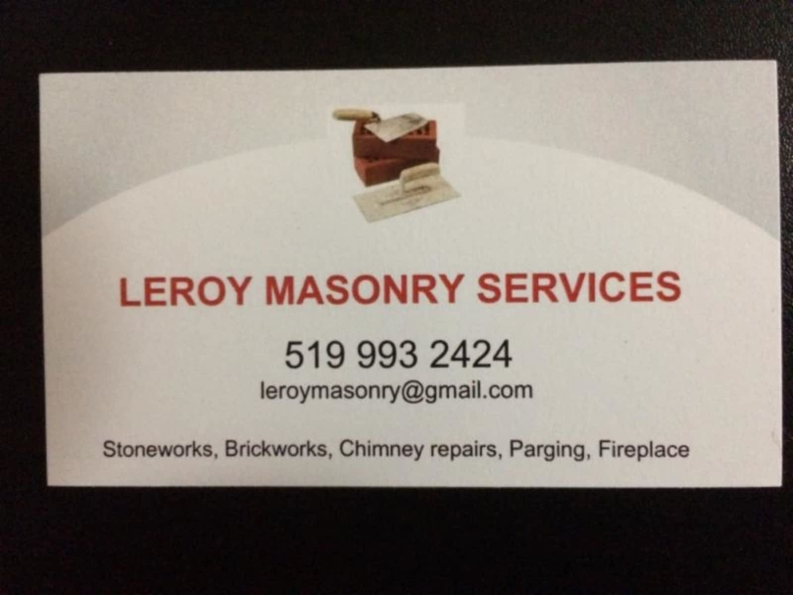 Leroy Masonry - Opening Hours - Guelph, ON