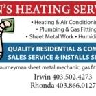 Irwin's Heating Service